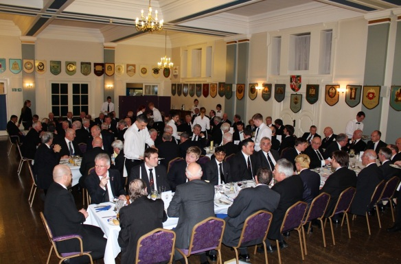 Festive Board in the Holmes' Dining Room