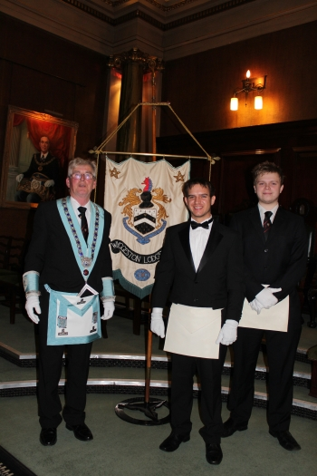 The Master of the Lodge along with our student members