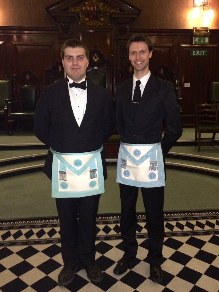 Bros Clarke & Kent on becoming Master Masons