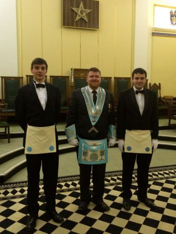The Master of Wyvern Lodge with our Fellowcrafts