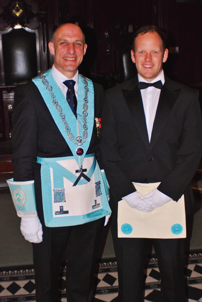 Bro Carter (right) with the Master of Granite Lodge (left)