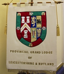 The Banner of Provincial Grand Lodge of Leicestershire and Rutland Freemasons