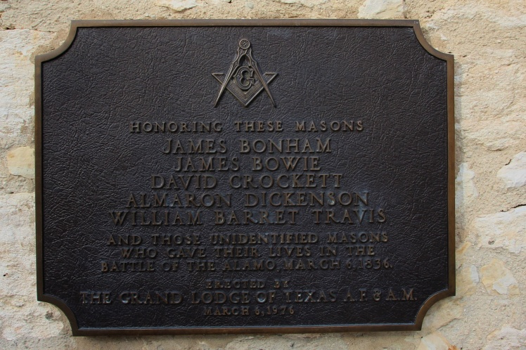Freemasons lost in the Alamo
