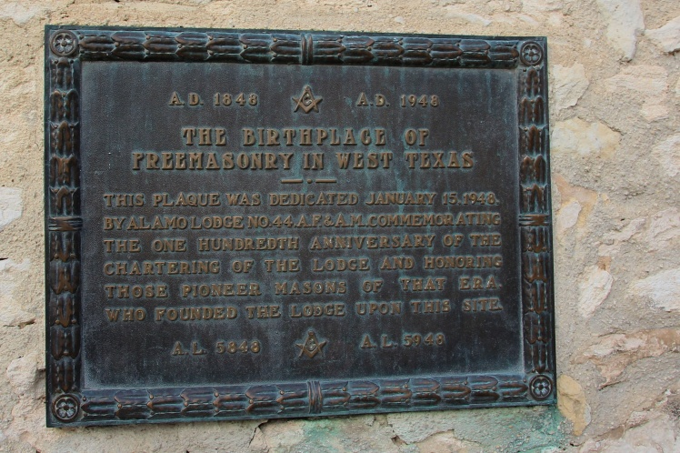 Consecration of the Alamo Lodge No.44