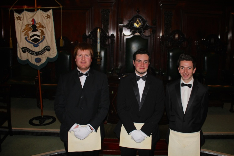 The latest members of the Wyggeston Lodge who are all students at Leicester University