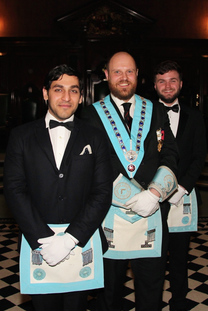 Freemasons at Wyggeston Lodge who are students at Leicester University