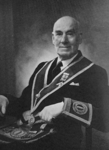 John Harrison Jnr - The 15th Master of the Wyggeston Lodge No.3448 in 1924