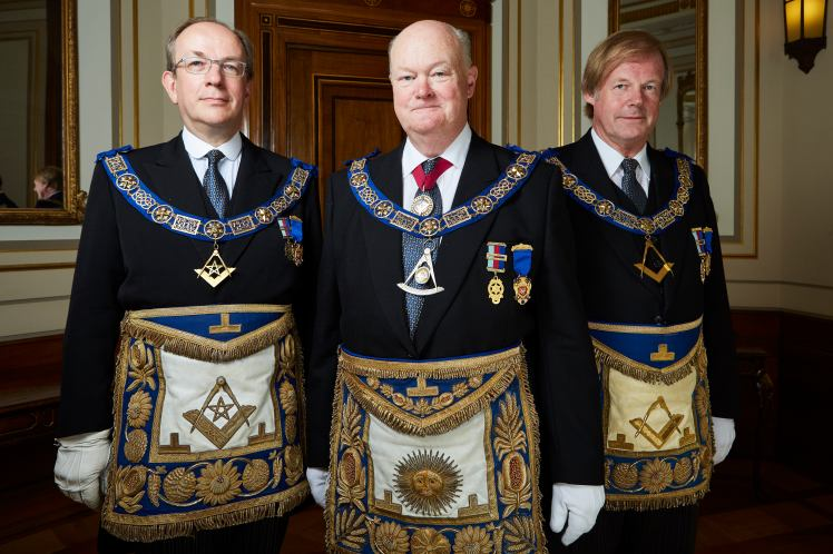 Inside the Freemasons on Sky 1 - April 2017 (L-R) Jonathan Spence Peter Lowndes and Sir David Wootton (c) Sky (2)