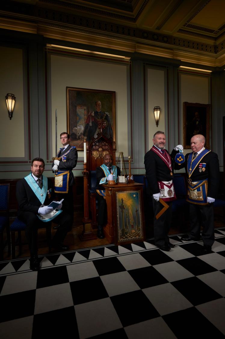 UGLE2596 Inside the Freemasons on Sky 1 - April 2017 (L-R) Dean O'Conn... (2)